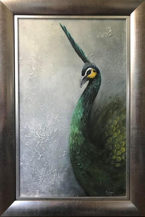 Obraz do salonu artysty Klaudia Choma pod tytułem Złoty paw