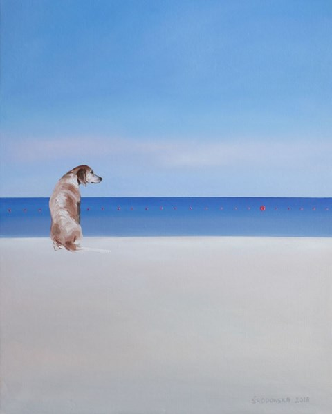 Obraz do salonu artysty Katarzyna Środowska pod tytułem Czerwone w wodzie