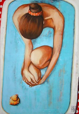 Obraz do salonu artysty Renata Magda pod tytułem Spoczywająca