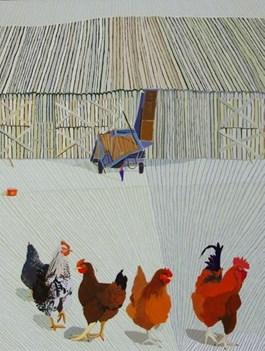 Obraz do salonu artysty Magdalena  Jędrzejczyk pod tytułem Białe kury