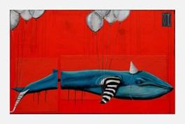 Obraz do salonu artysty Wojciech Brewka pod tytułem Potwory wypełnione powietrzem