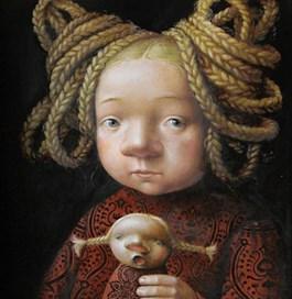 Obraz do salonu artysty Katarzyna Słowiańska-Kucz pod tytułem Małe warkoczyki