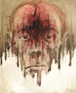 Obraz do salonu artysty Agnieszka Pakuła pod tytułem 2000 yard stare (cykl Shell Shock)