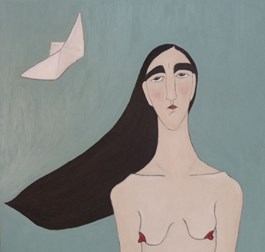 Obraz do salonu artysty Paulina Korbaczyńska pod tytułem Na wietrze statki puszczała do nieba
