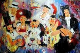Obraz do salonu artysty Dariusz Grajek pod tytułem Uczta u Bazyla
