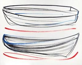 Obraz do salonu artysty Olga Pawłowska pod tytułem Obraz z cyklu Połowy