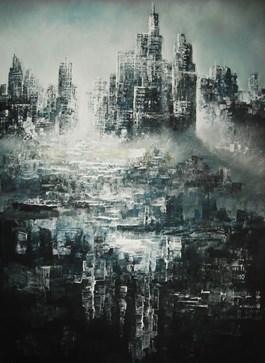 Obraz do salonu artysty Andrzej Fronczak pod tytułem Metropolis XI