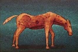 Obraz do salonu artysty Grzegorz Klimek pod tytułem Bursztynowy koń
