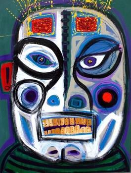 Obraz do salonu artysty Paweł Zakrzewski pod tytułem Kabuki Mask