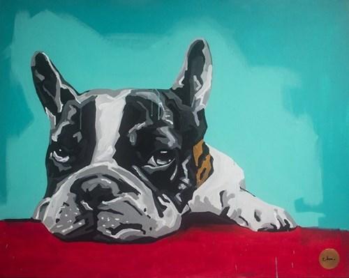 Obraz do salonu artysty Monika Mrowiec pod tytułem I will never pee on your coach