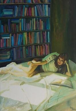 Obraz do salonu artysty Katarzyna Orońska pod tytułem Dziewczyna z koralikiem
