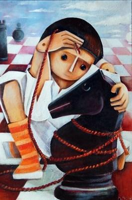 Obraz do salonu artysty Mirella Stern pod tytułem Przywiązanie