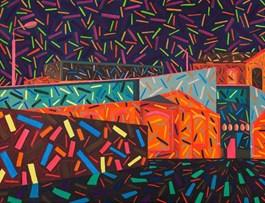 Obraz do salonu artysty Marek Konatkowski pod tytułem Bez tytułu