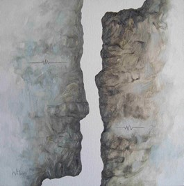 Obraz do salonu artysty Wit Bogusławski pod tytułem Inverted conversations