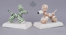 Rzeźba do salonu artysty Mariusz Dydo pod tytułem Mini air dogs, modele Picasso i Triangle