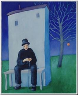 Obraz do salonu artysty Miro Biały pod tytułem Kolejny smutny dzień