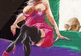 Obraz do salonu artysty Edyta Duduś pod tytułem Sowy IX