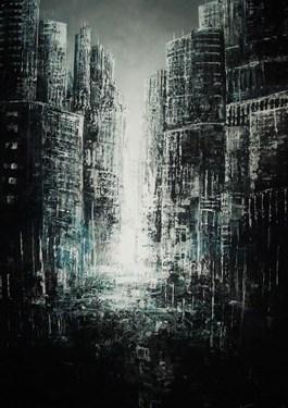 Obraz do salonu artysty Andrzej Fronczak pod tytułem W miejskich oparach