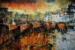 Obraz do salonu artysty Dariusz Grajek pod tytułem Stary port