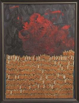 Obraz do salonu artysty Wojciech Chełchowski pod tytułem Bez tytułu
