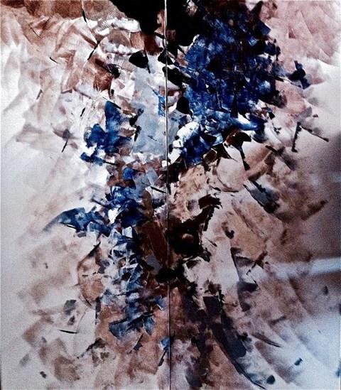 Obraz do salonu artysty Alicja Domańska pod tytułem Diptych Pictura Insomnia