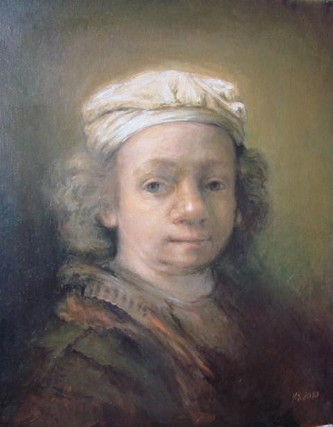 Obraz do salonu artysty Katarzyna Słowiańska-Kucz pod tytułem Rembrandt młody