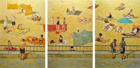 Obraz do salonu artysty Dorota Zych-Charaziak pod tytułem Skąpani słońcem (tryptyk)