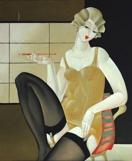 Obraz do salonu artysty Urszula Tekieli pod tytułem Puella Pulchra II