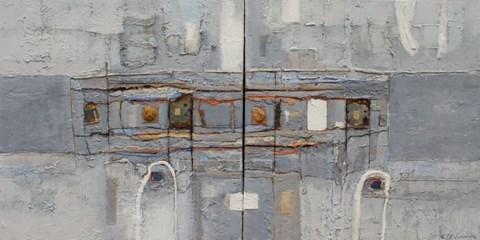 Obraz do salonu artysty Stanisław Tomalak pod tytułem Kwadrat293AB (Dyptyk)