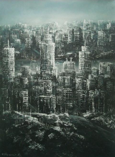 Obraz do salonu artysty Andrzej Fronczak pod tytułem Widok na nadrzeczną gęstwinę