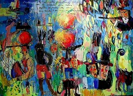 Obraz do salonu artysty Dariusz  Grajek pod tytułem Popołudnie nad Grande Jatte…
