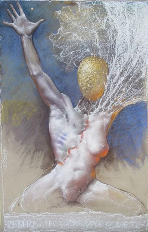Obraz do salonu artysty Aleksander Marek Korman pod tytułem … i Bóg stworzył kobietę