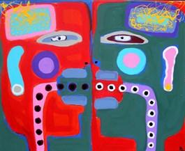 Obraz do salonu artysty Paweł Zakrzewski pod tytułem Bezpośrednie karmienie doustne