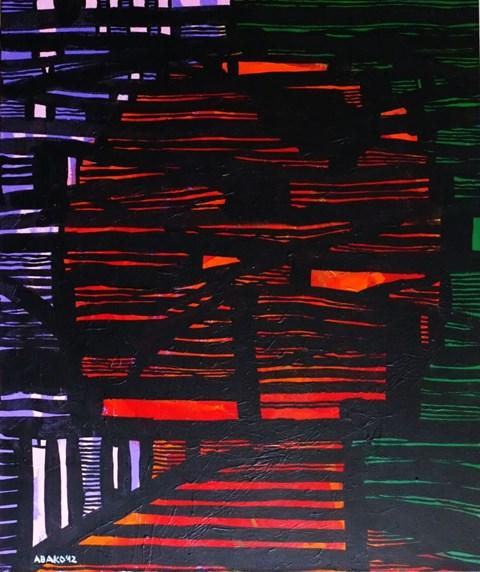 Obraz do salonu artysty Witold Abako pod tytułem Interwały postfizykalne
