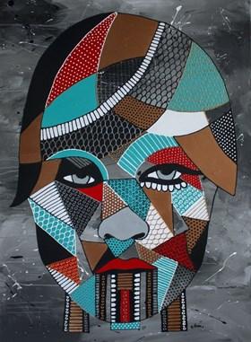 Abstrakcyjny portret kobiety II