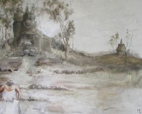 Obraz do salonu artysty Misia Łukasiewicz pod tytułem Zawsze spóźniona z cyklu dni świąteczne