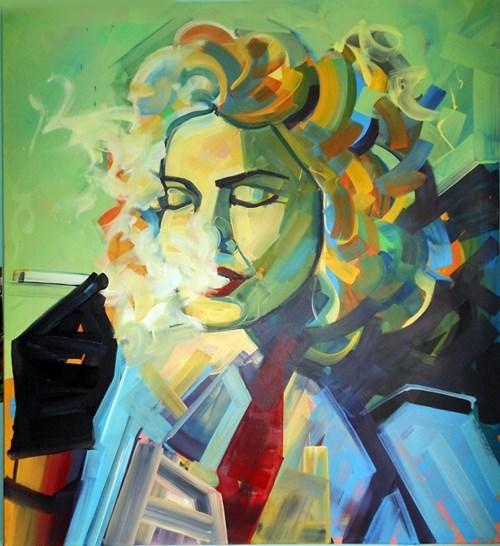 Obraz do salonu artysty Piotr Kachny pod tytułem Louse Veronica Ciccone