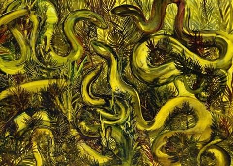 Obraz do salonu artysty Edyta Hul pod tytułem Wężowisko