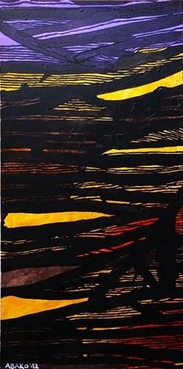 Obraz do salonu artysty Witold Abako pod tytułem Interwały postfizykalne IV