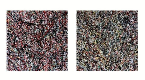 Obraz do salonu artysty Amelia Augustyn pod tytułem Kłębowisko (dyptyk)