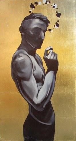Obraz do salonu artysty Jakub Godziszewski pod tytułem Mężczyzna z perłą