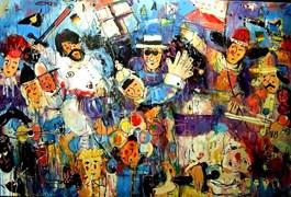 Obraz do salonu artysty Dariusz  Grajek pod tytułem Bitwa pod Grunwaldem