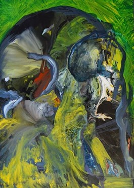 Obraz do salonu artysty Edyta Hul pod tytułem Truncatis III - Dżungla 3