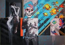 Obraz do salonu artysty Kamila Jarecka pod tytułem Akwarium