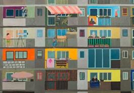 Obraz do salonu artysty Marek Konatkowski pod tytułem Bloki