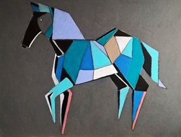 Obraz do salonu artysty Karolina Kucharska pod tytułem Zimny koń