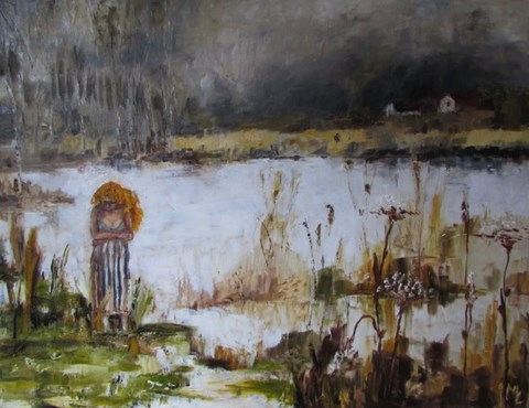 Obraz do salonu artysty Misia Łukasiewicz pod tytułem Długa droga do domu