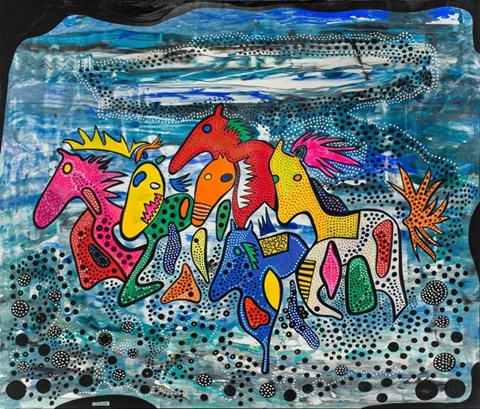 Obraz do salonu artysty Łukasz Leskier pod tytułem Pop horse