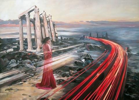 Obraz do salonu artysty Janusz Orzechowski pod tytułem Wyspa tysiąca domysłów