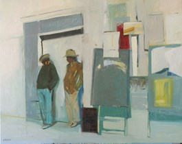 Living room painting by Agata Ruman titled It was